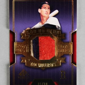 2004 SP Game Used Patch Ted Williams Jersey Card Red Sox 6/10 HRC-TW (3-Color Swatch)