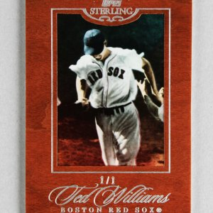 2006 Topps Sterling Ted Williams Boston Red Sox 1/1 Baseball Card #62 Cherry Wood