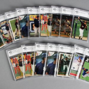 Derek Jeter Rookie Graded Card Lot (16) New York Yankees BCCG 10 MINT+