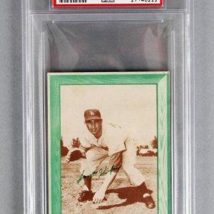 1958 Sandy Koufax Bell Brand Baseball Card - Los Angeles Dodgers PSA Graded