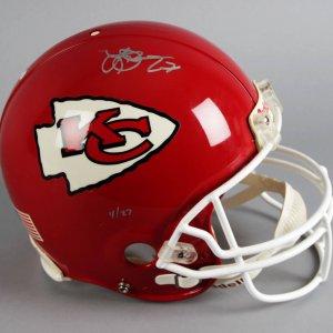 Larry Johnson Signed KC Chiefs LE 4/27 Full Size Helmet - JSA
