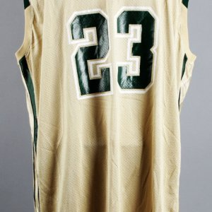 2001-02 LeBron James Game-Worn St. Vincent - St. Mary's Irish High School Home Jersey