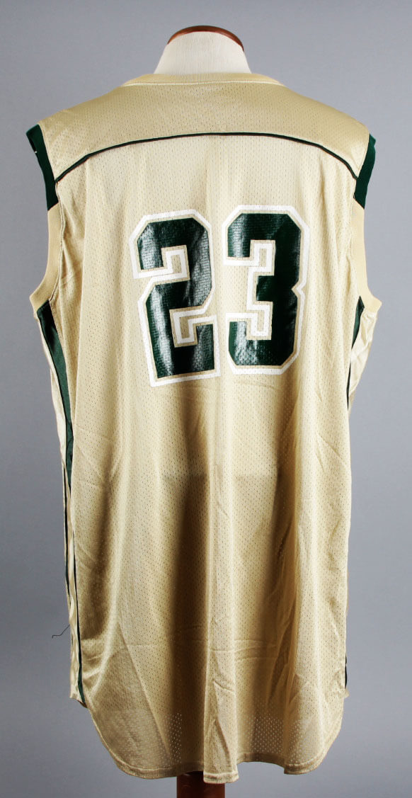 huge selection of 2b31f c7d6b 2001-02 LeBron James Game-Worn St. Vincent - St. Mary's Irish High School  Home Jersey