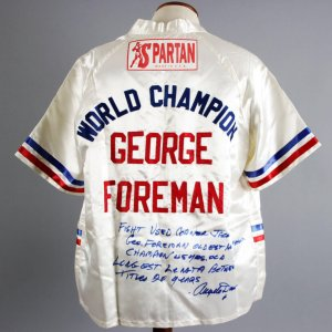 Angelo Dundee Fight-Worn, Signed George Foreman Corner Jacket - PSA/DNA & Dundee LOA's