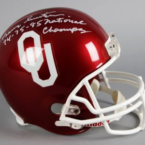 Barry Switzer Signed Oklahoma Sooners Full Size Helmet