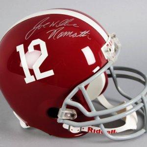 Joe Namath Signed Alabama Crimson Tide Full Size Helmet