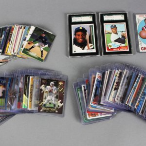 Sports Card Lot Collection 100+ Rookies, Graded, Inserts - Griffey, Jr., Bench, McGwire, Duncan, Largent etc.