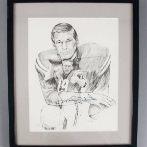 Johnny Unitas Signed 11x14 Baltimore Colts Lithograph - PSA/DNA