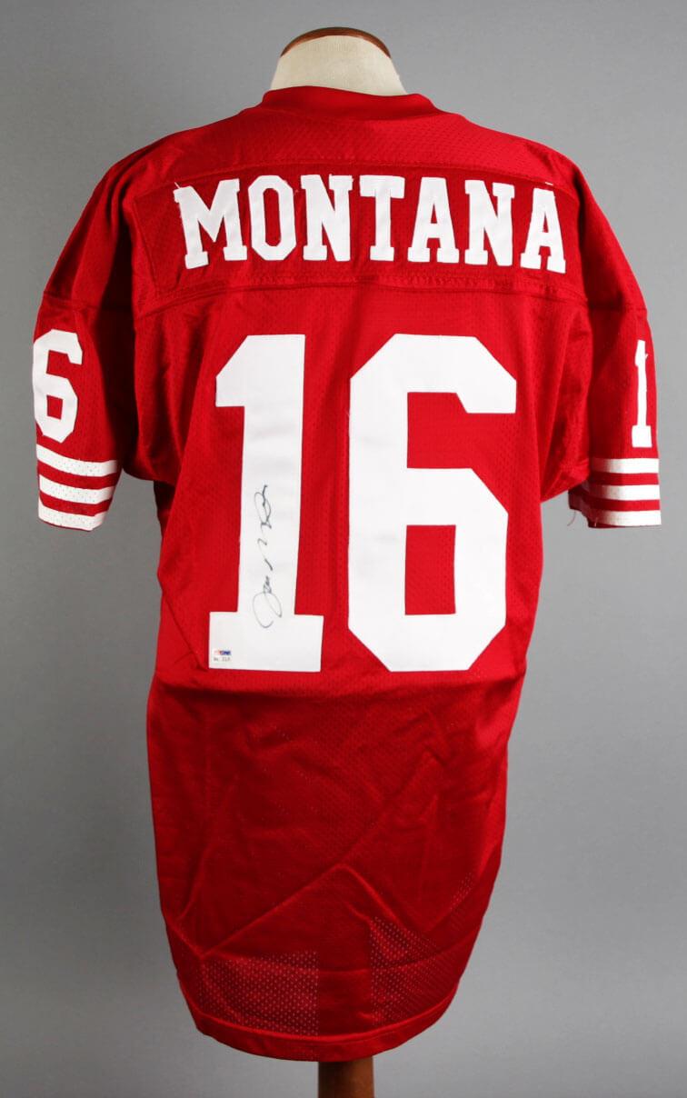 cheap for discount 8f21b 74e9b Joe Montana Signed Jersey 49ers - COA PSA/DNA