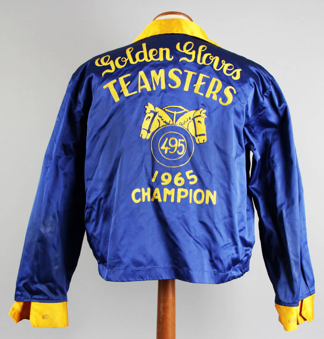 Jerry Quarry Personal Used Worn Bowling Style Teamsters 1965 National Golden Gloves Champion Jacket - COA Family Letter