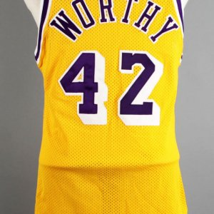 1989 James Worthy Game-Worn Los Angeles Lakers Jersey - COA 100% Team