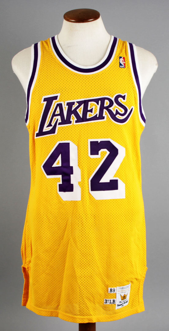 8189bc4bfa8 1989 James Worthy Game-Worn Los Angeles Lakers Jersey – COA 100% Team