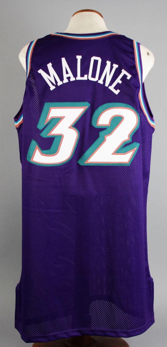 cbd6253210d 1999-00 Karl Malone Game-Worn Jersey Jazz – COA 100% Team ...