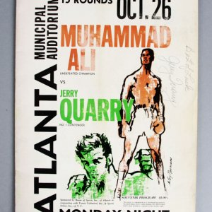 1970 Ali vs Quarry Rare Fight Program Signed by Quarry - JSA