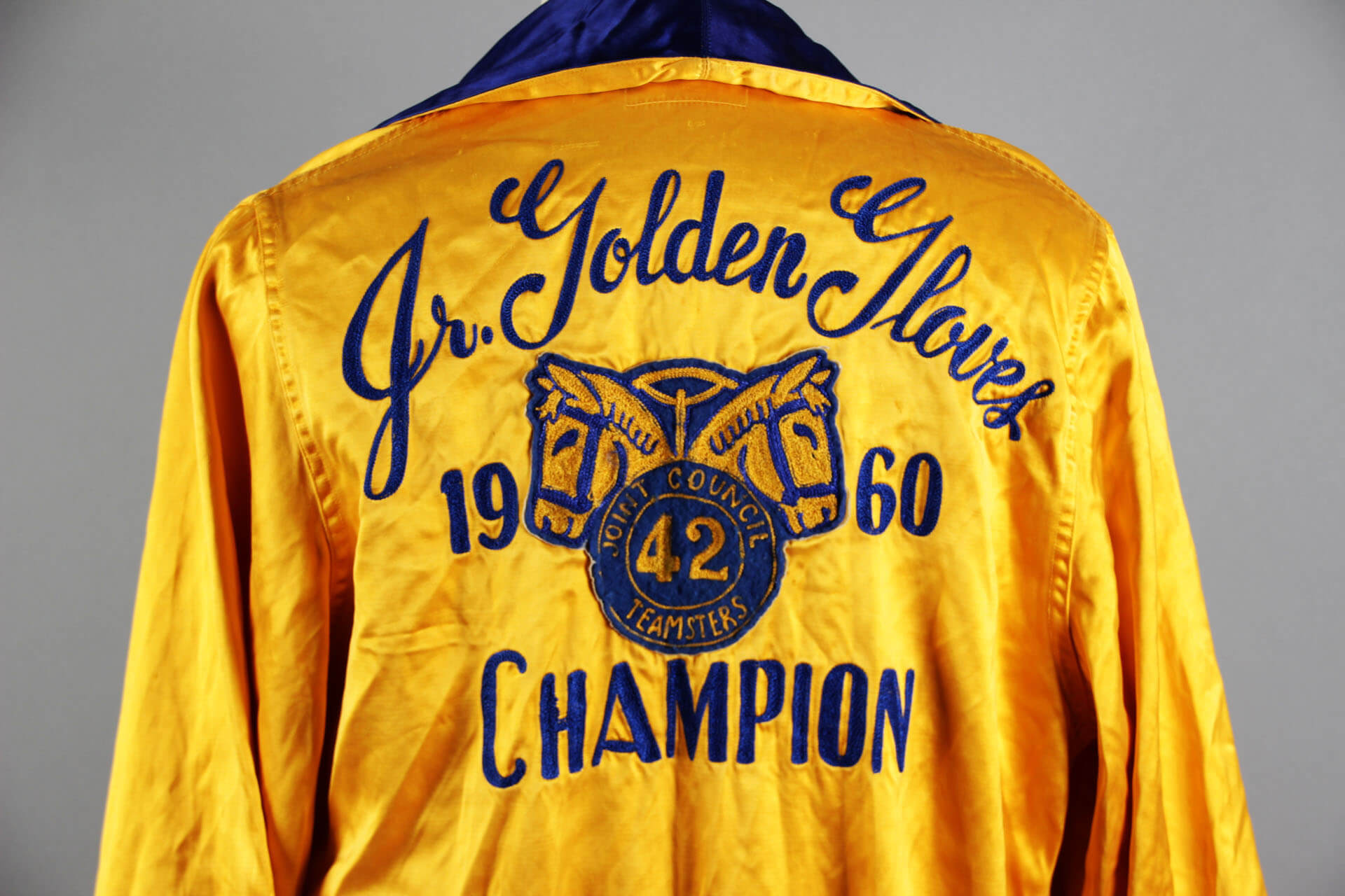 Jerry Quarry Personal Worn 1960 Junior Golden Gloves Championship Boxing Robe - COA Family Letter