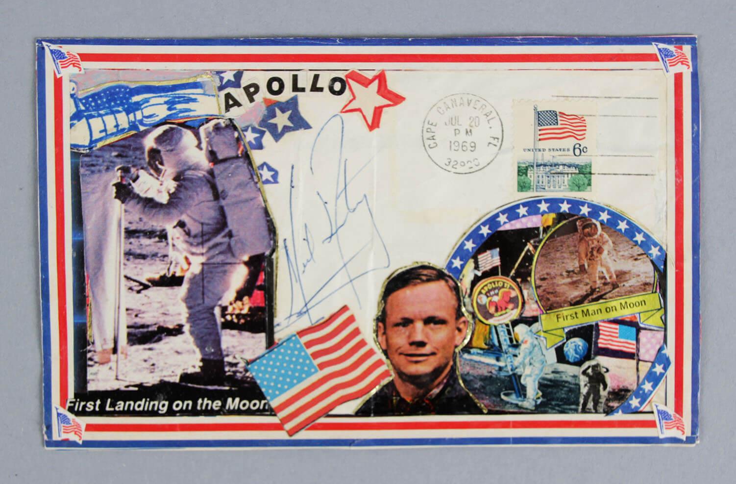 Astronaut Neil Armstrong Signed FDC Cachet NASA - JSA Full LOA