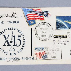 Astronaut Joe Walker Signed FDC Cachet NASA - JSA Full LOA