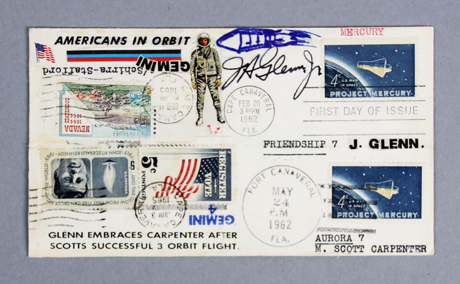 Astronaut John Glenn Signed FDC Cachet (Full Signature) NASA - JSA Full LOA
