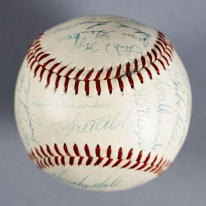 1956 Brooklyn Dodgers Team-Signed ONL (Giles) Baseball Jackie Robinson Roy Campanella - JSA Full LOA