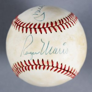 Roger Maris & Mickey Mantle Signed Yankees OAL (MacPhail) Baseball - JSA Full LOA