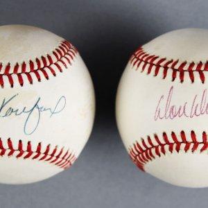 Brooklyn Dodgers Pitchers Lot -  Koufax & Drysdale Signed (ONL) Baseballs - JSA