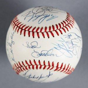 1990  New York Mets Team Signed ONL (White) Baseball