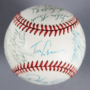 1977 Los Angeles Dodgers Team-Signed ONL Feeney Ball (NL Championship Season)