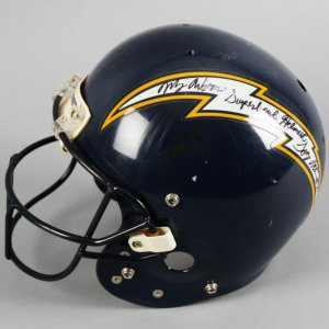 Tony Martin Game-Worn, Signed San Diego Charger Helmet - COA 100% Team & JSA