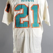 1971-72 Jim Kiick Game-Worn Miami Dolphins Jersey From Undefeated Super Bowl Season - Photo-Matched, COA 100% Team