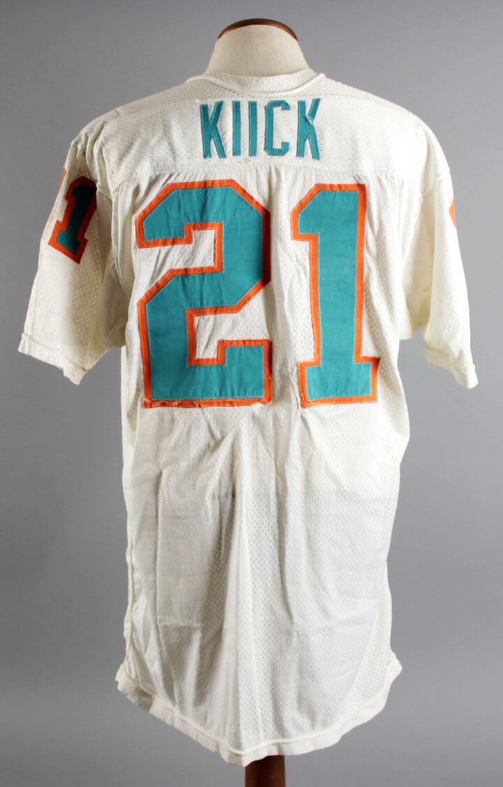 Miami 1971-72 Coa 19 Game-worn Kiick Photo-matched Jim Team - 20 Bowl Jersey Undefeated Graded Dolphins Super From Season 100