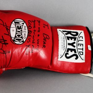 Floyd Mayweather Jr. Ring-Worn, Signed & Inscribed Boxing Glove - JSA Full LOA