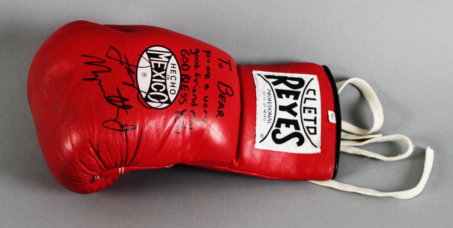 Floyd Mayweather Jr. Ring-Worn, Signed & Inscribed Boxing Glove - JSA Full LOA