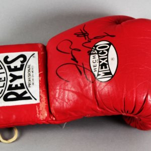 Floyd Mayweather Jr. Ring-Worn, Signed Boxing Glove - JSA Full LOA