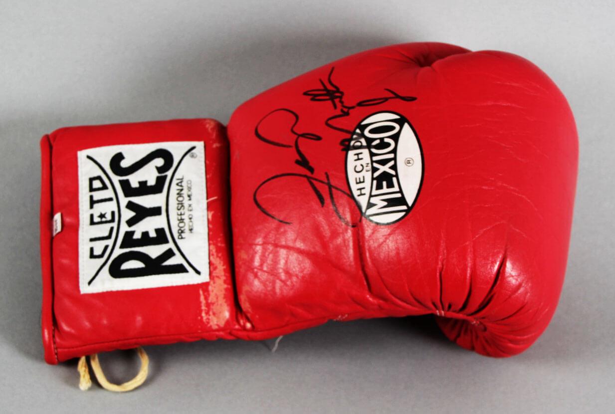Floyd Mayweather Jr. Ring-Worn, Signed Boxing Glove - JSA Full LOA