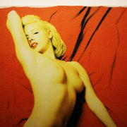Pink Tribute to Marilyn Monroe Playboy Portrait 48.5 x 68.5 Giclee by Steve Kaufman