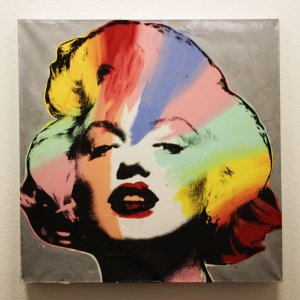 Marilyn Monroe 39x39 Giclee by Steve Kaufman