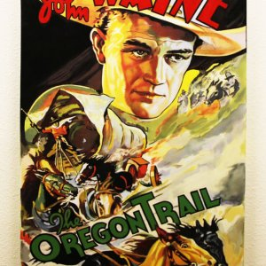 "John Wayne 33x48 ""The Oregon Trail"" Giclee by Steve Kaufman"