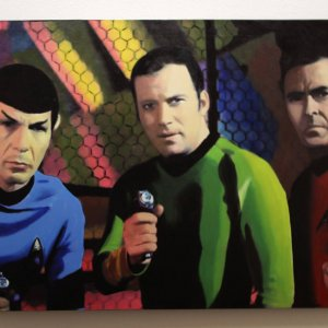Star Trek 47.5 x 63.5 Giclee by Steve Kaufman