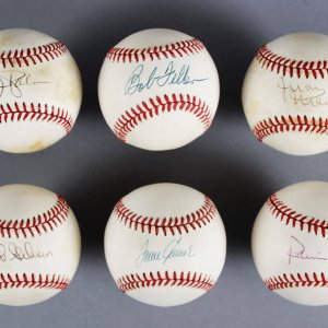 MLB Pitchers Signed Baseball Lot (6) - Tom Seaver, Bob Gibson etc. - JSA