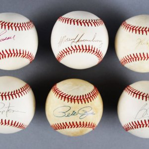 MLB Signed Baseball Lot (6) - Bo Jackson, Pete Rose etc. - JSA