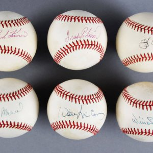 MLB HOF Signed Baseball Lot (6) - Stan Musial, Willie Stargell, Yogi Berra etc. - JSA