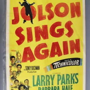 JOLSON SINGS AGAIN 1sh '49 Larry Parks 49/418