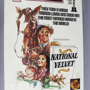 1971 National Velvet One Sheet Poster R71/252