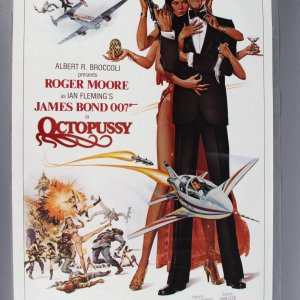1983 Octopussy One Sheet James Bond Movie Poster