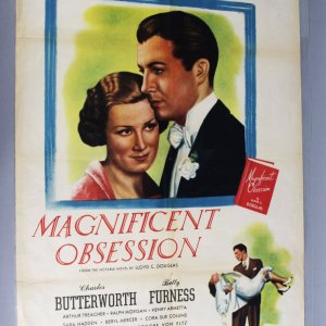 Magnificent Obsession One Sheet Movie Poster RARE 1947 Re-Release