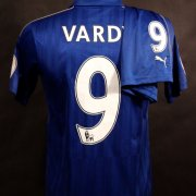 A Jamie Vardy Game-Used #9 Leicester City FC Home Uniform (Shirt & Shorts).  2016/17 Premier League.