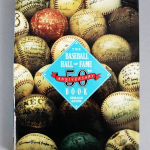 Baseball Hall of Fame 50th Anniversary Multi-Signed Book 60+ Ted Williams, Joe DiMaggio, Sandy Koufax etc. - JSA