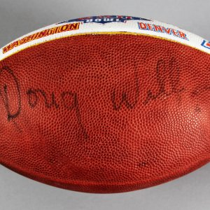 Doug Williams Signed Washington Redskins Football - COA 100% Team