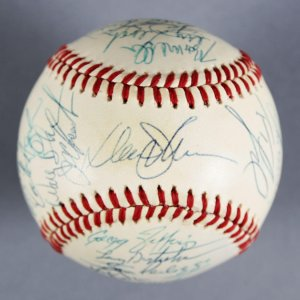 1987 Mets Team-Signed  (Giamatti) Baseball Darryl Strawberry,Keith Hernandez,Gary Carter