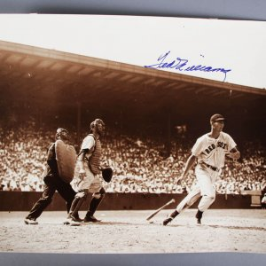 Ted Williams Signed 16x20 Boston Red Sox Photo - JSA